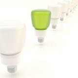 Line of light bulbs Stock Image
