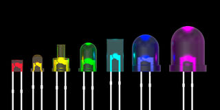 Line from light emitting diodes Royalty Free Stock Photo