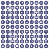 100 on-line lilor för seminariumsymbolssexhörning Arkivfoto