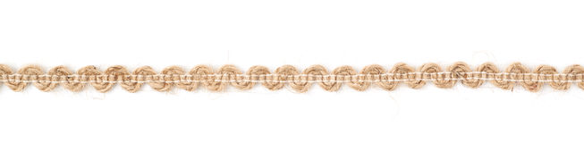 Line of a linen rope string Stock Image