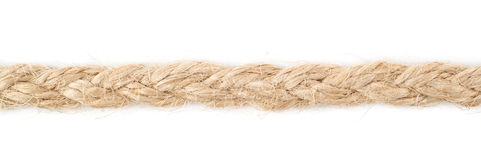 Line of a linen rope string Royalty Free Stock Photography