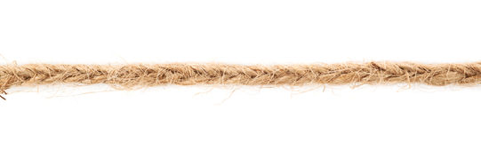 Line of a linen rope string Royalty Free Stock Photos