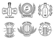 Line logo templates for beer house and craft Stock Image