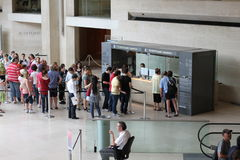 Line at Louvre Museum Paris Royalty Free Stock Image
