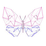Line low poly butterfly