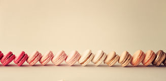 Line of macaroons Stock Image