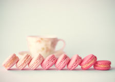 Line of macaroons Royalty Free Stock Photos