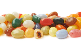 Line made of jelly beans isolated Royalty Free Stock Images