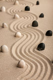 Line  made of  stones standing on the sand Stock Image
