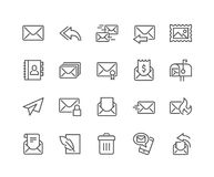 Line Mail Icons Stock Image