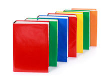 A line of many blank colorful books Stock Photography
