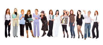 Line of many people Stock Photos