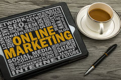 On line marketing concept Stock Photography