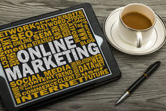 on line marketing concept Royalty Free Stock Photography