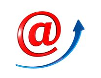 On line marketing, internet and e-mail symbol Stock Images