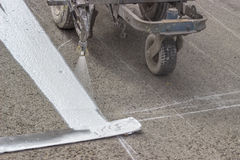 Line marking applicator with nozzle holder 4 Stock Photo