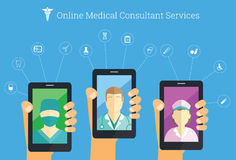 On-line medical consultant service Royalty Free Stock Images