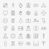 Line Medical Icons Big Set Royalty Free Stock Photos