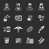 Line medical icons Royalty Free Stock Photo