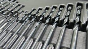 Line of Metal auger bit Stock Photo