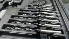 Line of Metal auger bit Stock Image