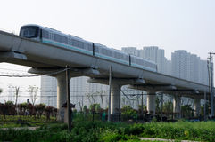 Line 16 Metro Train Shanghai Royalty Free Stock Photo