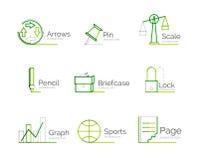 Line minimal design logo collection Royalty Free Stock Photos