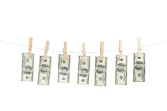 Line of money Stock Photos