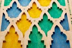 line in morocco africa   colorated floor ceramic abstract Stock Image