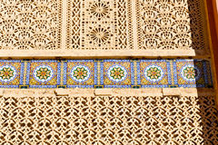 Line in morocco africa old tile and colorated   abstract Royalty Free Stock Photos