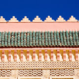 Line in morocco africa old tile and colorated floor ceramic abst Stock Photo