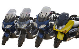 Line motorcycles Royalty Free Stock Photo