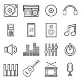 Line music icon Royalty Free Stock Image