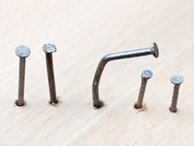 Line of nails Stock Photography