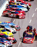 Line of NASCAR vehicles. Stock Photography