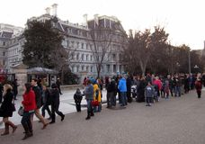 Line for the National Christmas Tree Lighting Stock Photo