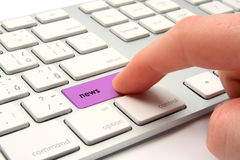 On-line news. Concept - keyboard with news key Royalty Free Stock Image