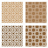Line octagon tile seamless background Stock Photo