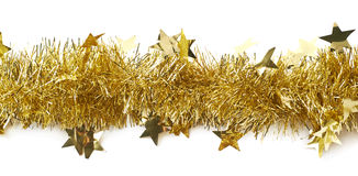 Free Line Of A Tinsel Garland Isolated Stock Photography - 66269972