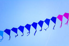 Free Line Of Kites In The Sky Royalty Free Stock Photography - 82540177