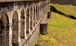 Line of Old Stone Arches Royalty Free Stock Images