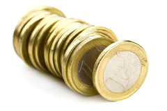 Line of one euro Royalty Free Stock Image