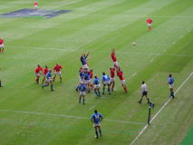 Line-out. In the rugby between Wales & Italy at the Millennium Stadium Stock Photos