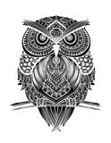 Line owl back Royalty Free Stock Photo