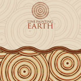 Line painting invite/ greeting card Royalty Free Stock Photos