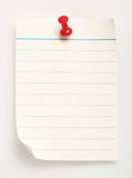 Line paper (with clipping path) Stock Photos