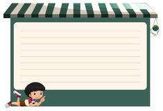 Line paper design with little boy Royalty Free Stock Image