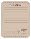 Line paper design with tree of live Stock Photos