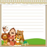 Line paper design with wild animals Royalty Free Stock Images
