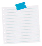 Line paper with holes on the side Royalty Free Stock Images
